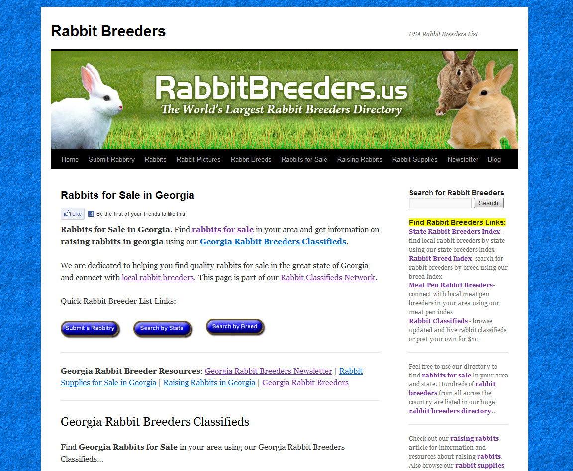 Georgia Rabbit Breeders | USA Rabbit Breeders