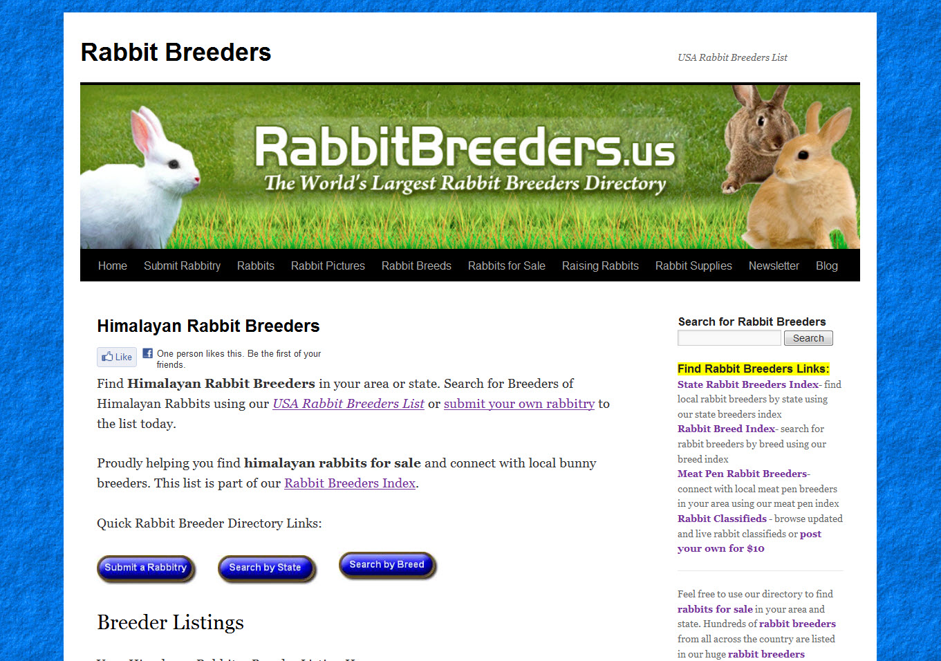Himalayan Rabbit Breeders