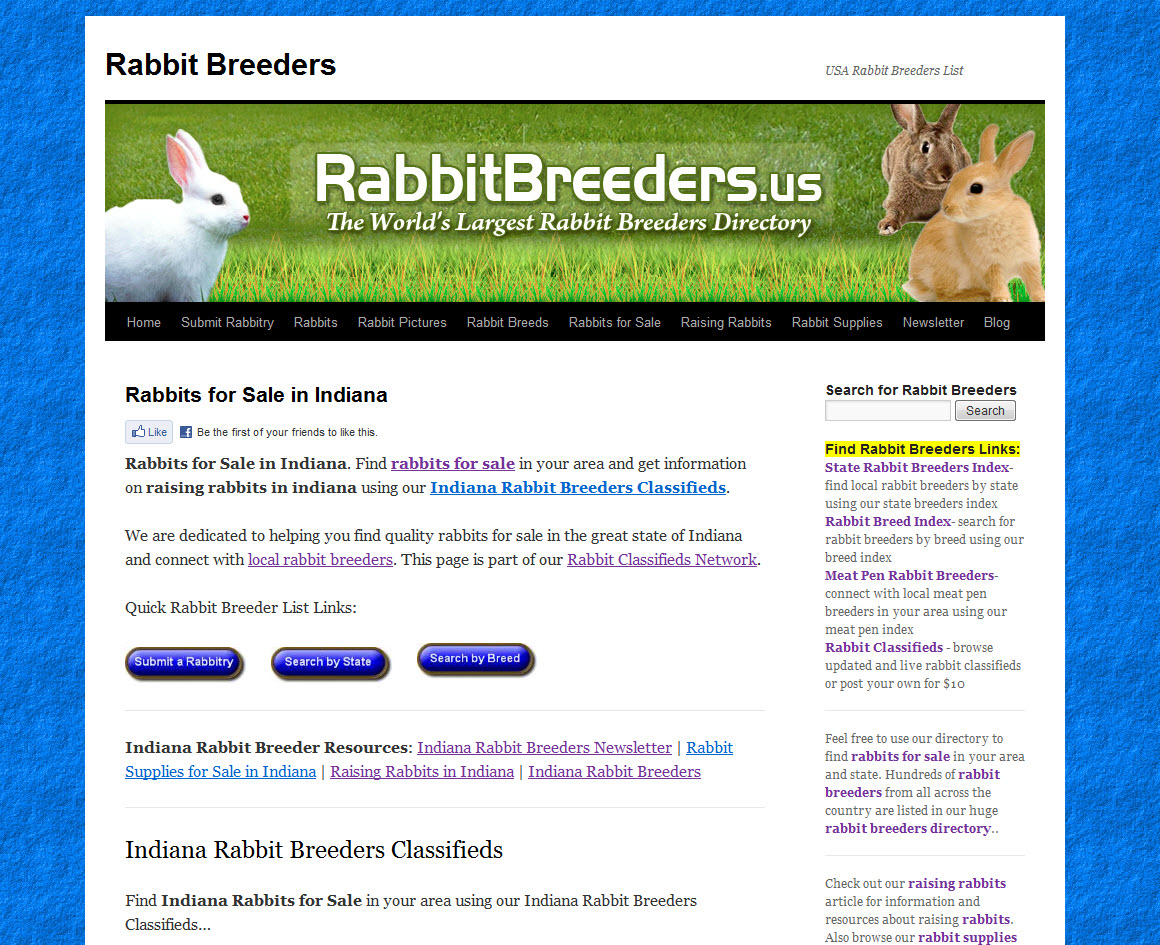 Indiana Rabbit Breeders