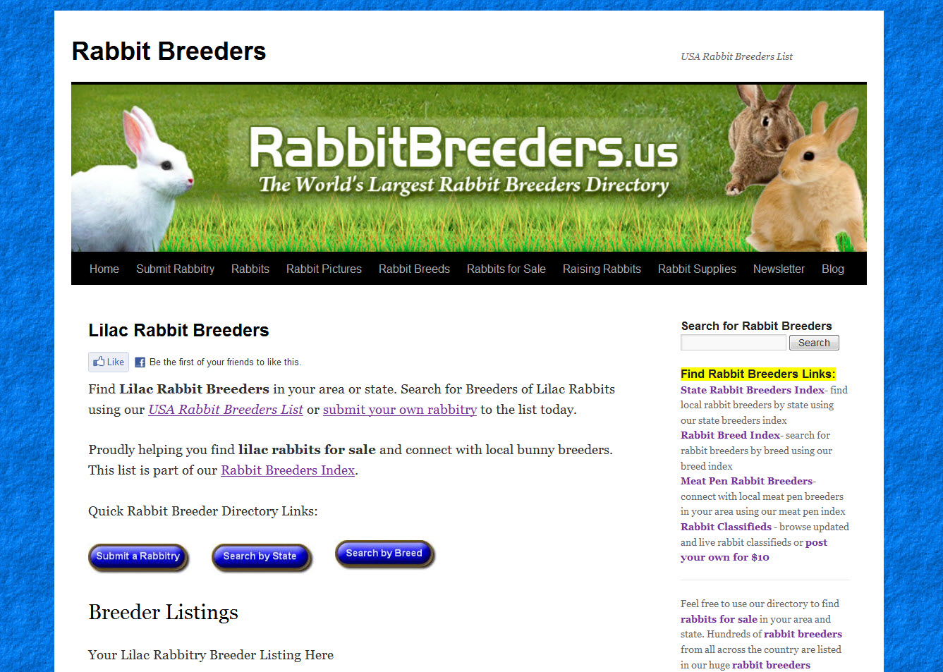 Lilac Rabbit Breeders