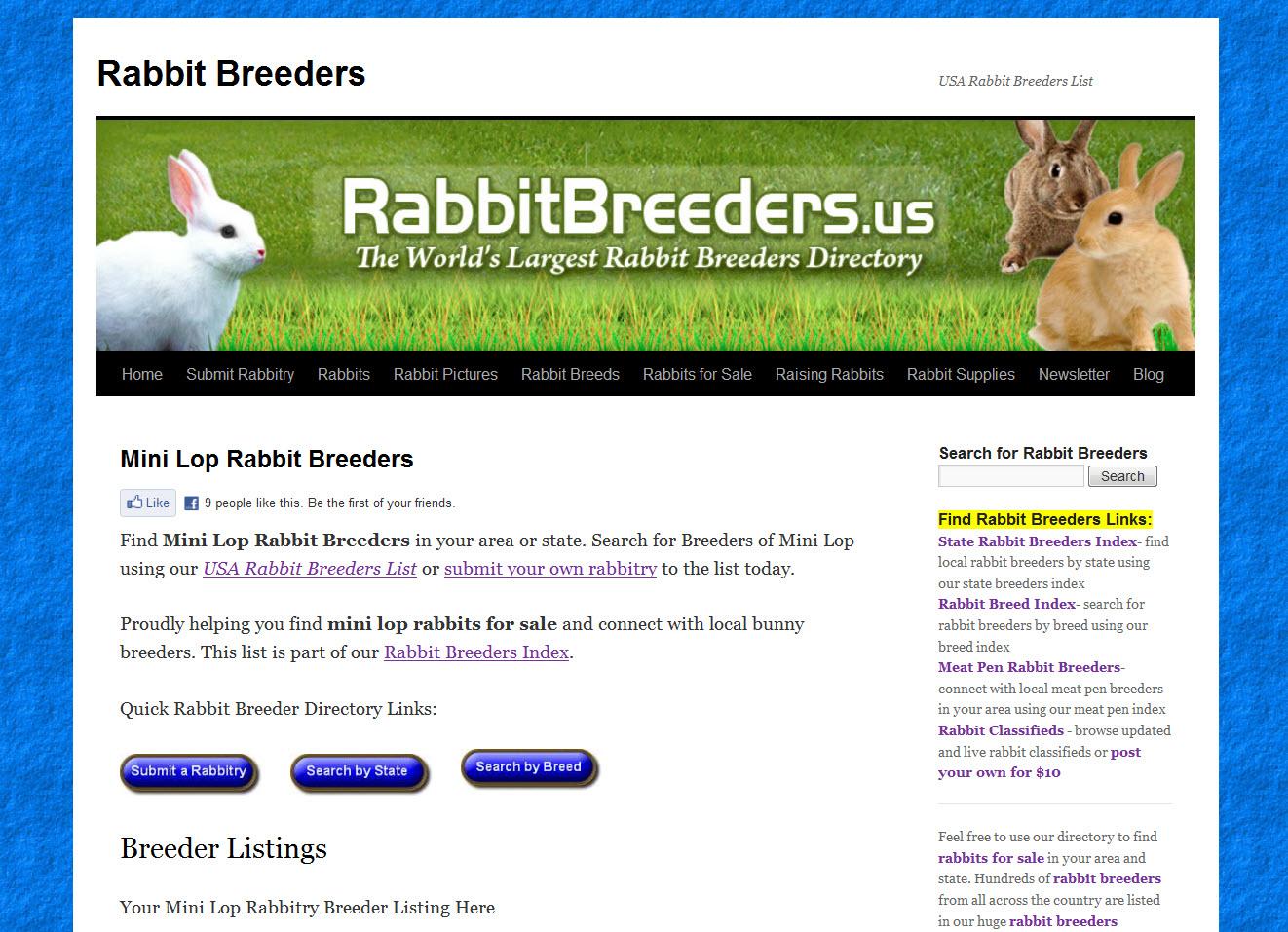 Mini Lop Rabbit Breeders