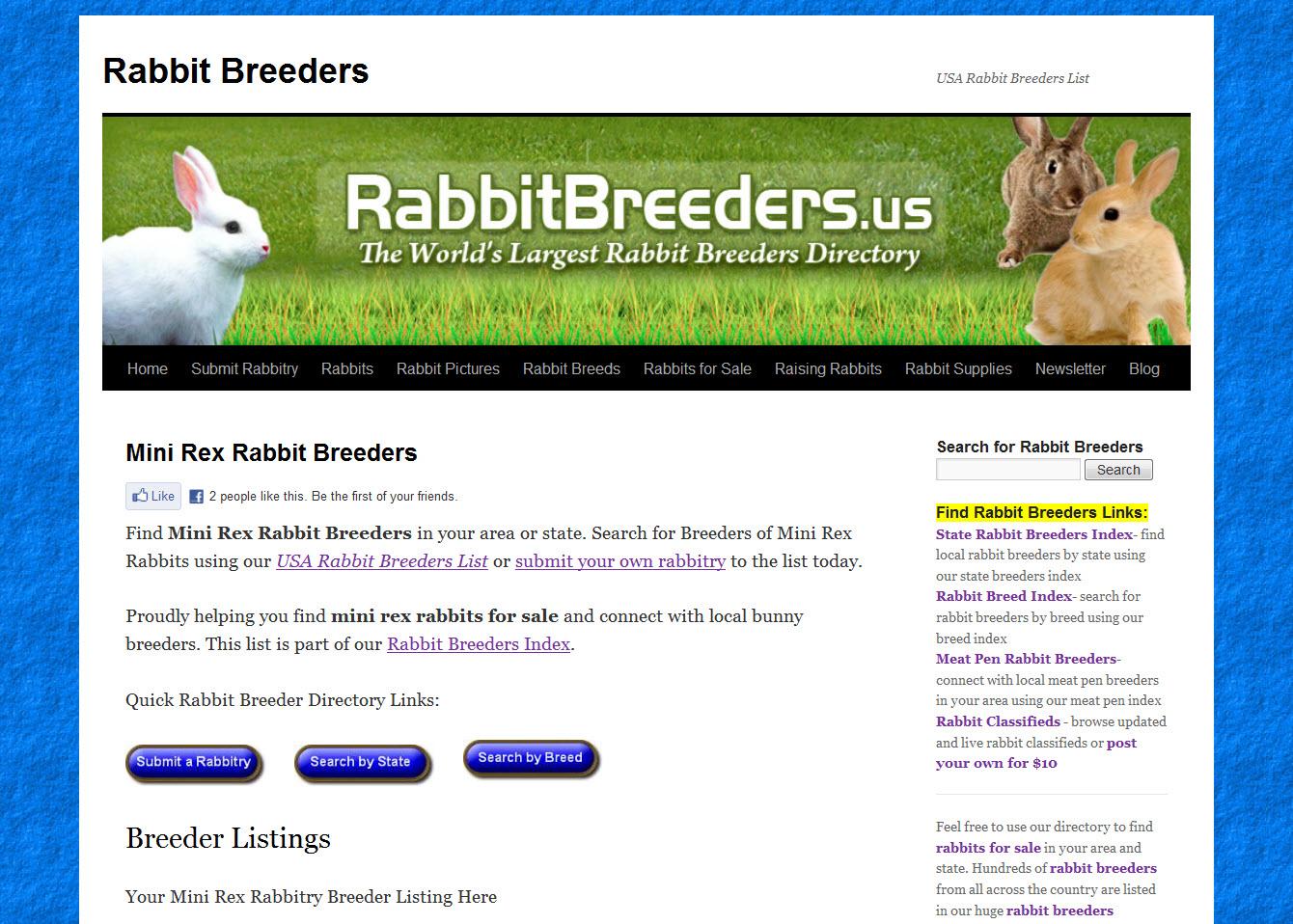 Mini Rex Rabbit Breeders