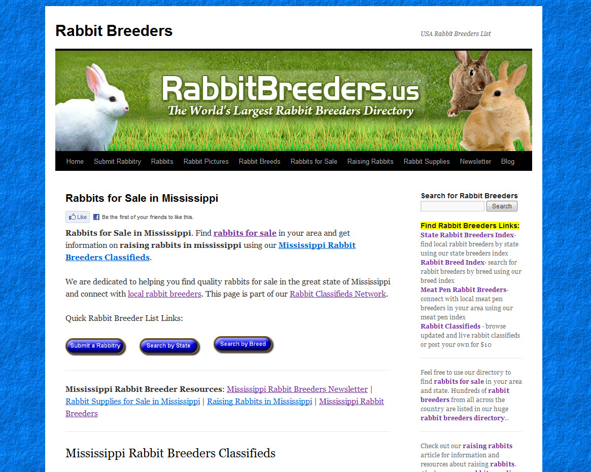 Mississippi Rabbit Breeders