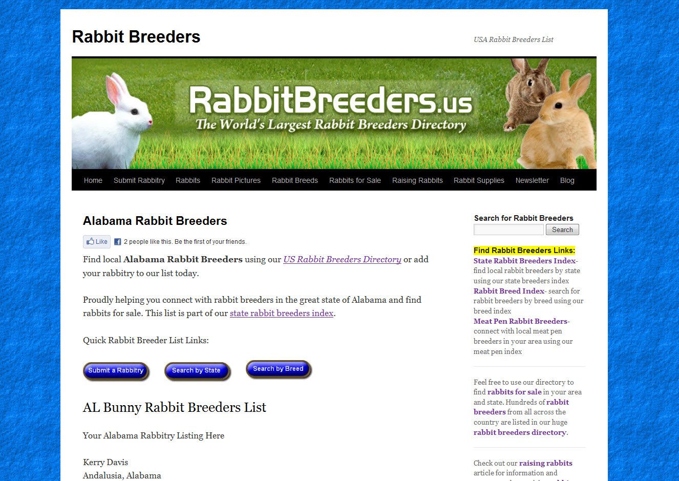 Rabbits for Sale in Alabama