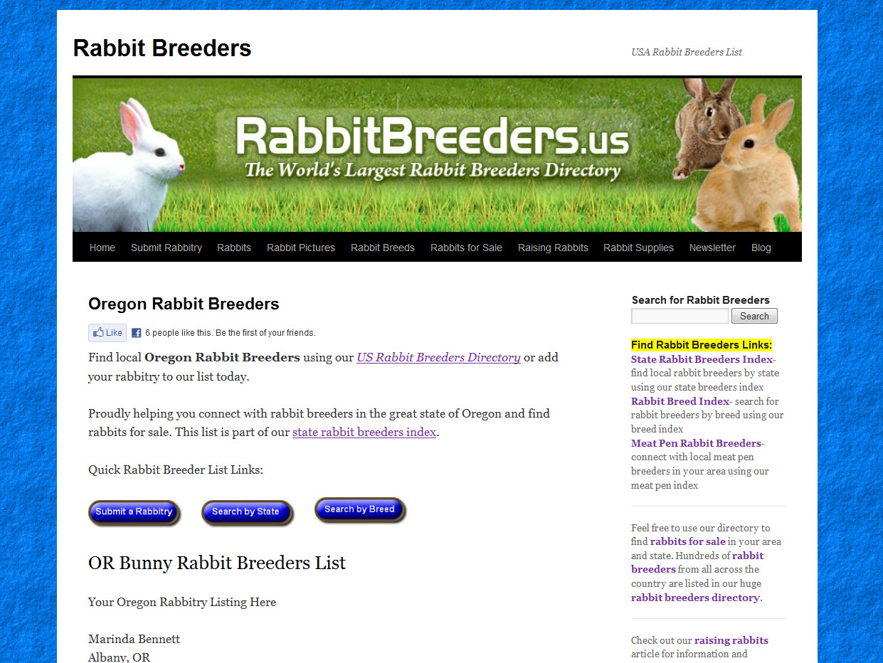 Rabbits for Sale in Bend, OR   USA Rabbit Breeders