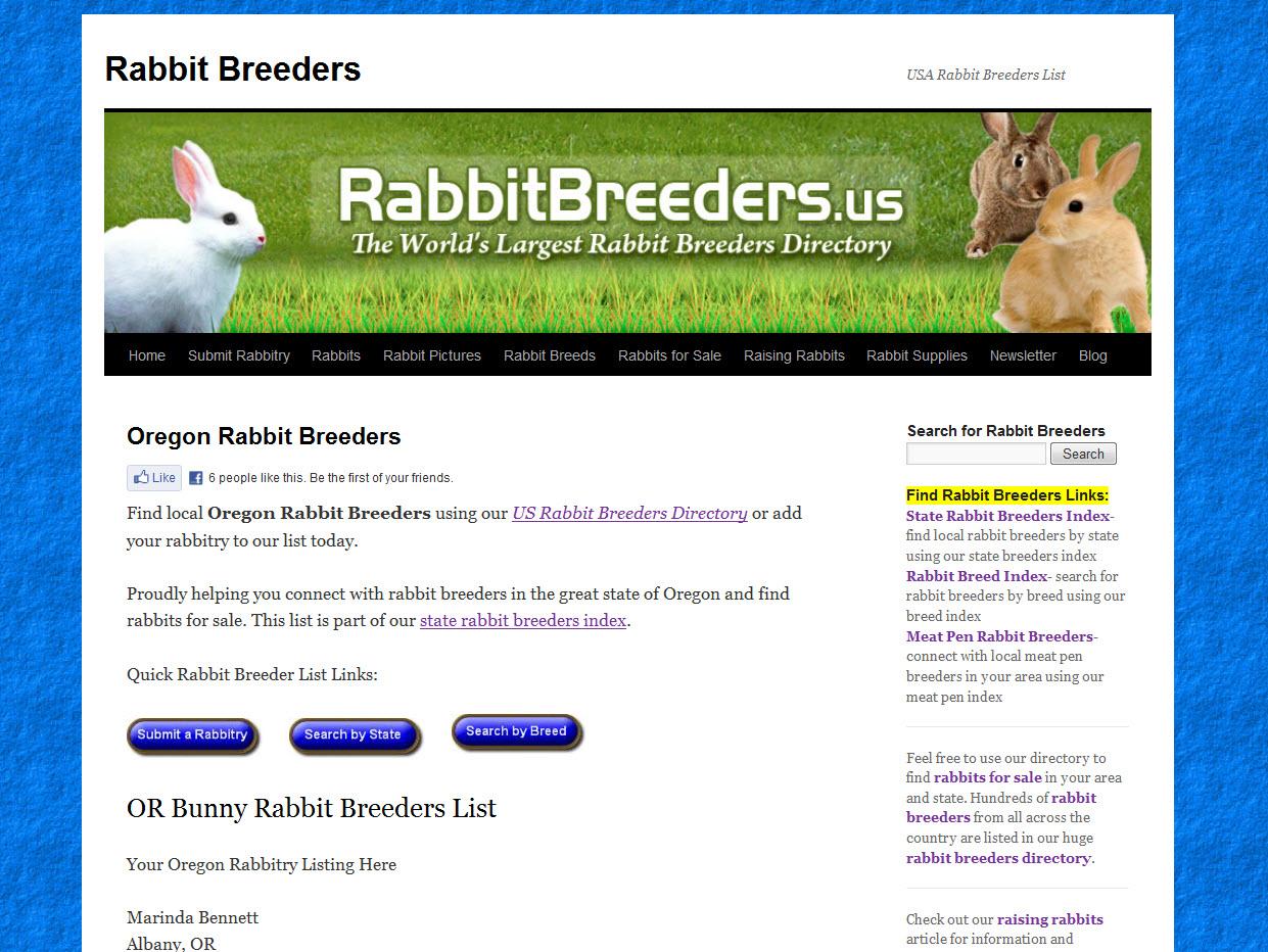 Rabbits for Sale in Eugene