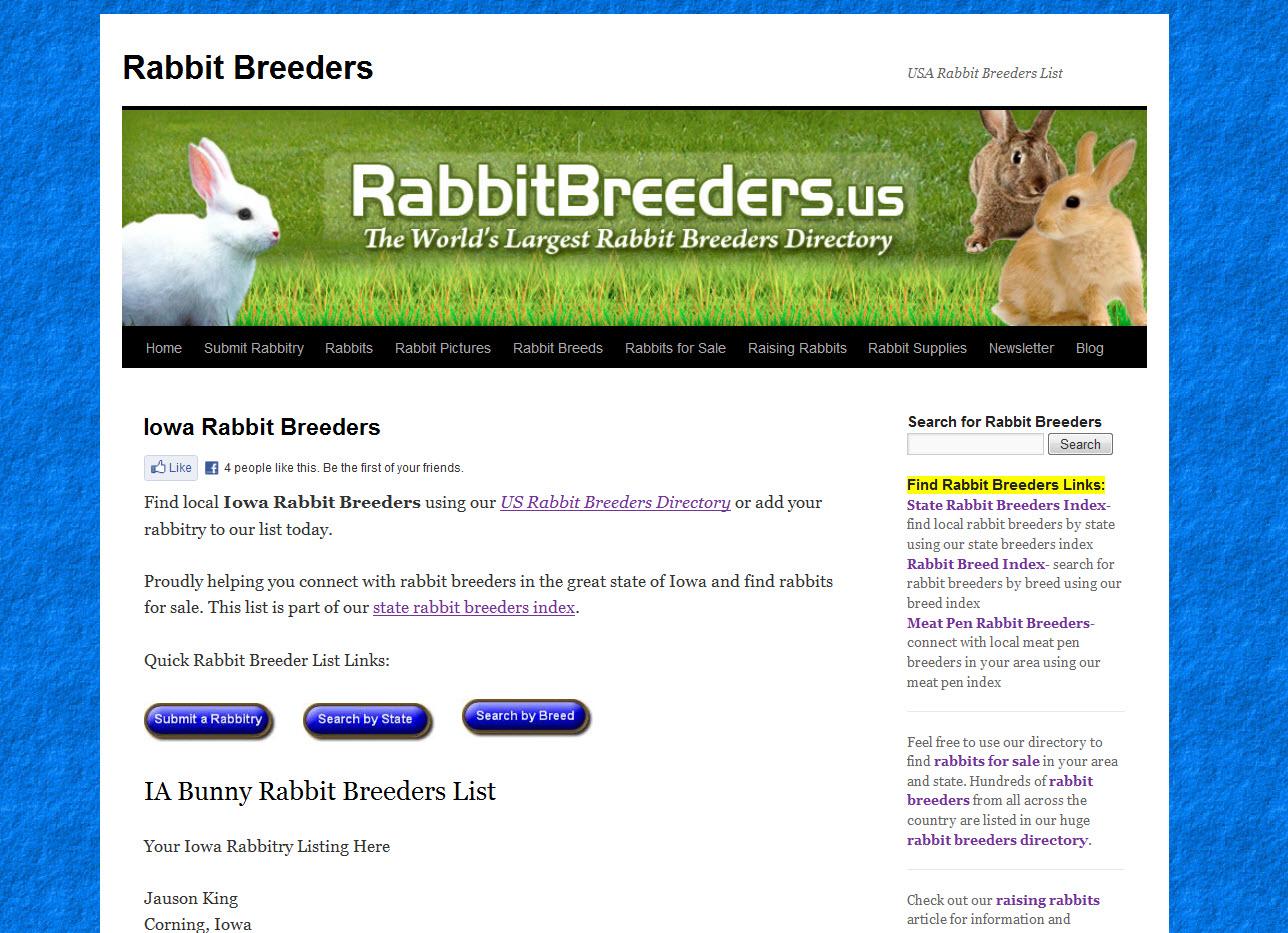Rabbits for Sale in Iowa