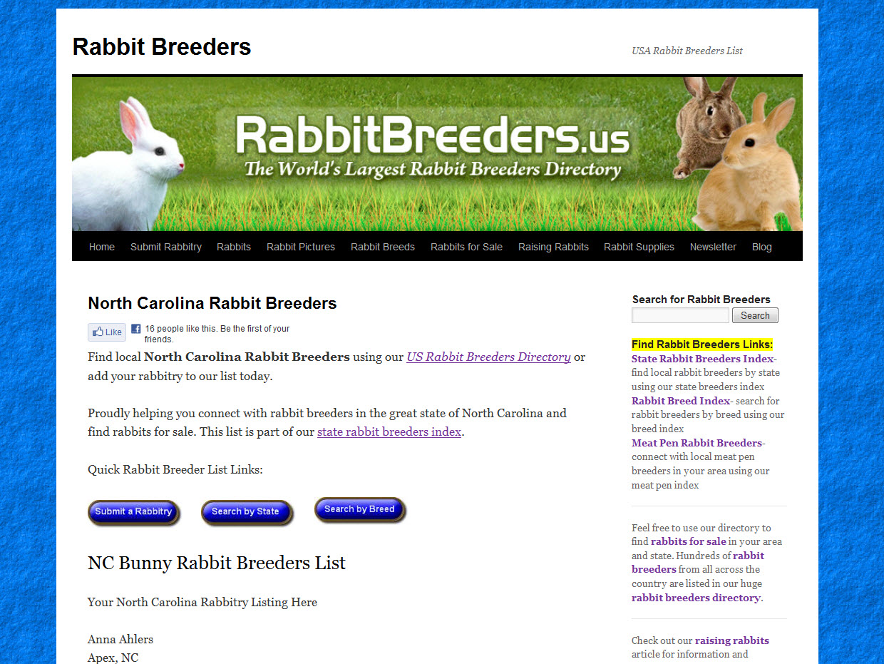 Rabbits for Sale in North Carolina