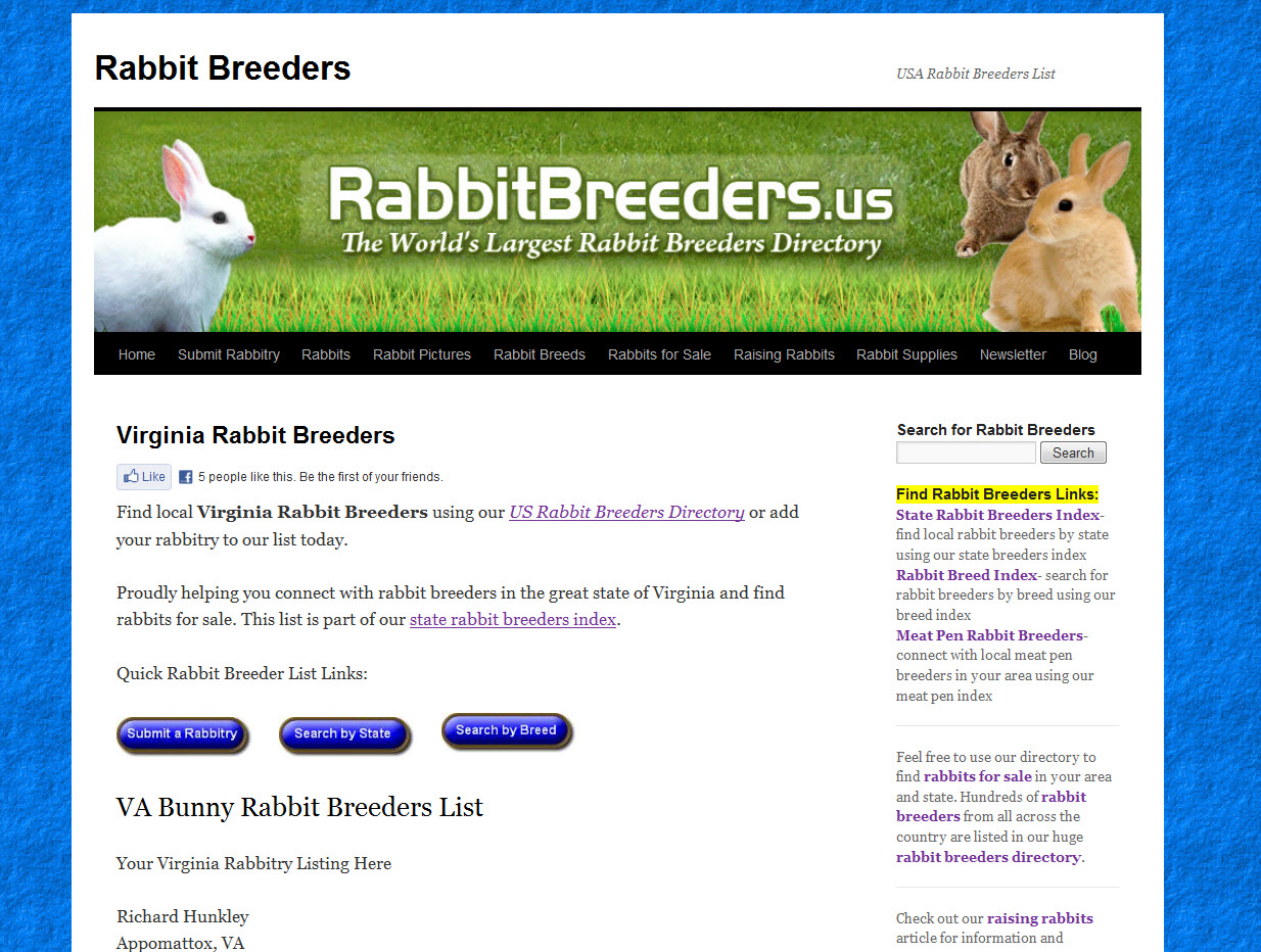 Rabbits for Sale in Richmond, VA | USA Rabbit Breeders
