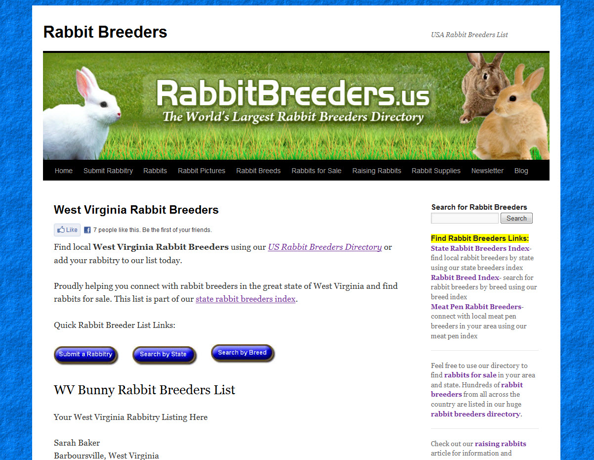 Rabbits for Sale in West Virginia
