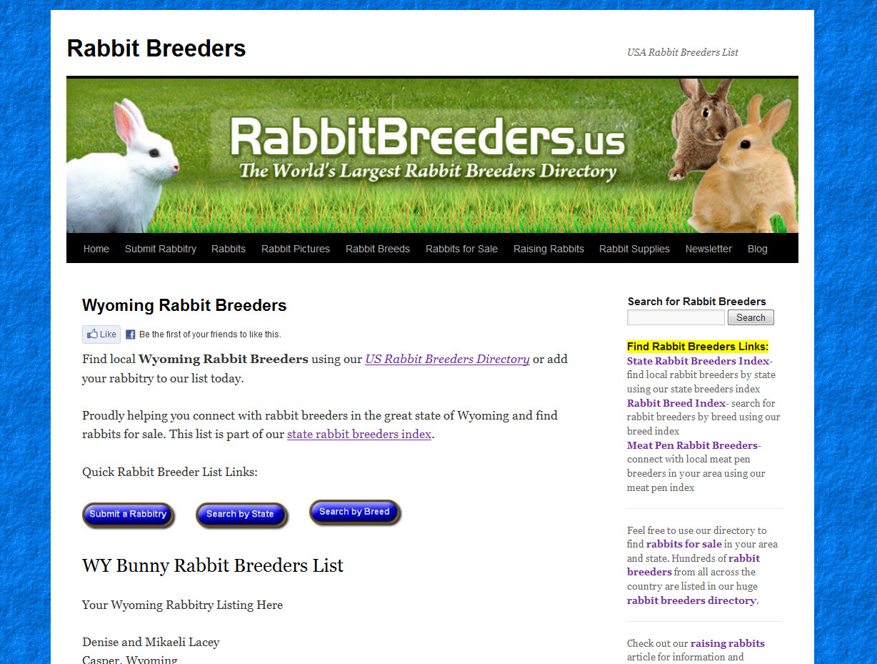 Rabbits for Sale in Wyoming