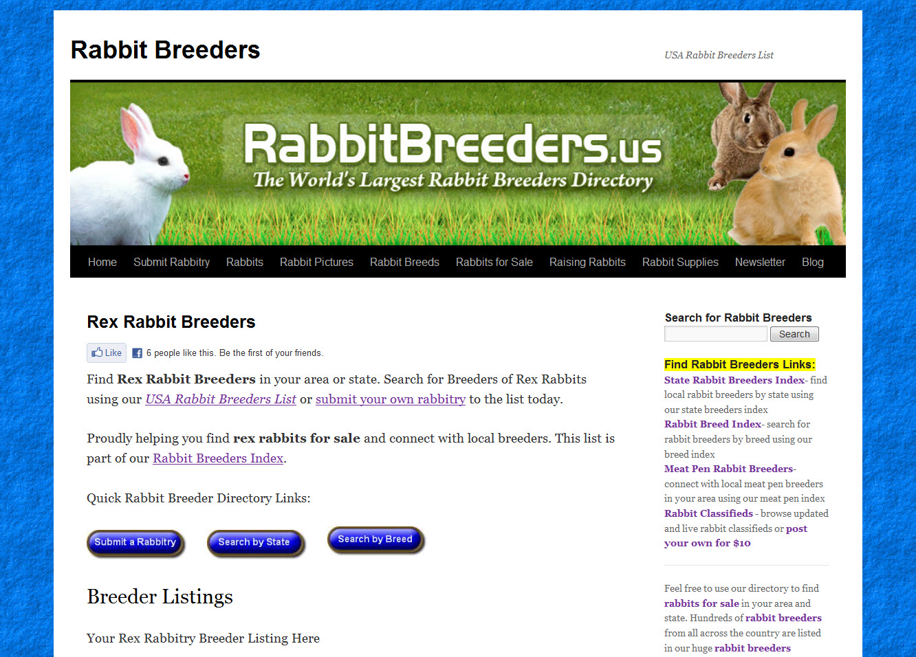 Rex Rabbit Breeders