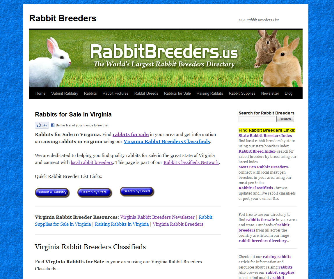 Virginia Rabbit Breeders